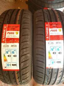 2X 215-55-17 THREE A BRAND NEW TYRES