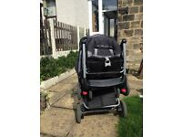 Double Buggy (Tandem BabyLove) with rain cover
