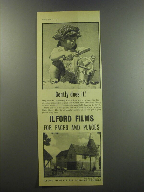 1955 Ilford Films Ad - Gently does it