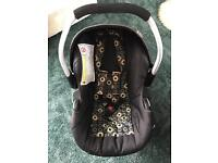 Baby Weaver car seat & rain cover,changing bag and carrier.