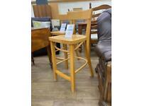 Wooden bench kitchen stool