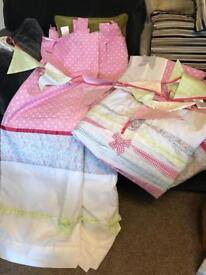 Girls next Curtains and duvet cover