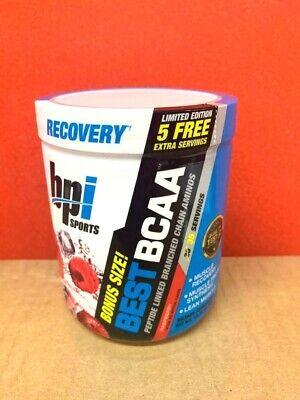 BPI BEST BCAA Amino Acid 30 Servings Raspberry +  FREE 5 EXTRA