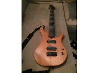 Custom Made 8 String Guitar Alder Body 30' scale Lundgren Pickups