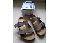 Birkenstock, Mens Arizona Birko Flor sandals size 9 brown : new