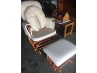 Nursing chair with foot rest