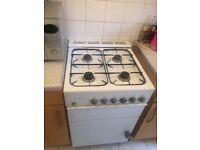Gas cooker freestanding white