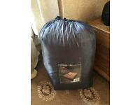 Double Inflatable Camping Bed & Bag with fitted zippable Duvet/ Bedding attached.