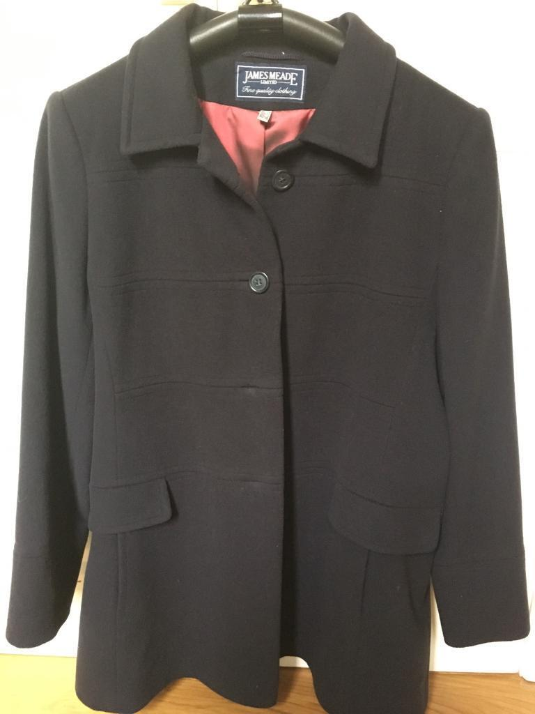 Navy wool and cashmere coat size 18