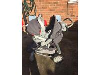 Pram pushchair. Travel system Gracco