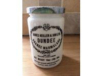 VINTAGE James Keiller. & Son Ltd Orange Marmalade Jar
