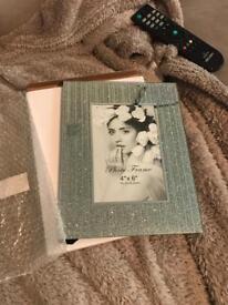 Brand new silver glittery photo frame