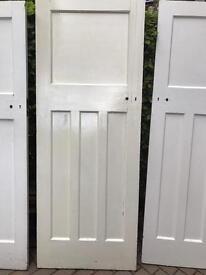 x 7 Solid wood 1930s doors. One over three.