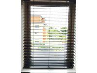 Window blind - black wood. Brand new