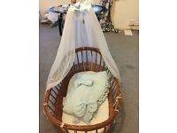 Moses Basket for Sale I've lost the screws but new hardly used as baby slept in my bed.