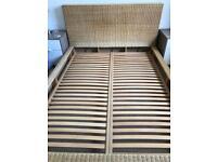 Habitat Rattan Double Bed Frame