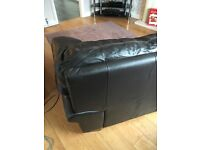 Brown leather 3 seater sofa and Matching 2 seater sofa . Good condition . £100 for both