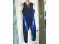 Mares 2 piece heavy wetsuit with hood.