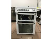 Hotpoint electric cooker 60cm ceramic double oven 3 months warranty free local delivery!!!!!