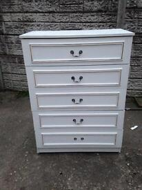 Very good condition 5 drawer chest only £20 good bargain price call now