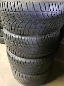 4 winter tires dunlop 245/45r18