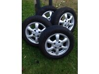 ALLOYS with EXCELLENT Tyres / Peugeot & Citroen