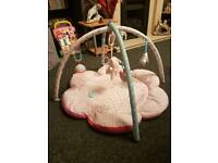 Baby girl play gym mat
