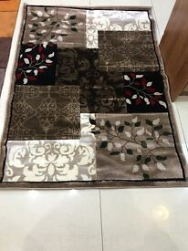 Brown beige mixed rug 120 x170 cm brand new