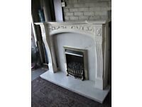 Stunning Marble Effect Fire Surround