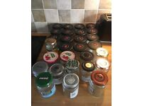 28 glass jars for jam or chutney makers
