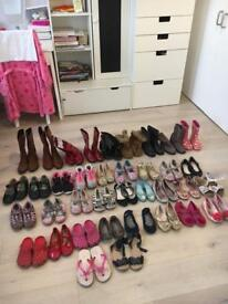 Huge bundle of boots and shoes 37 pairs