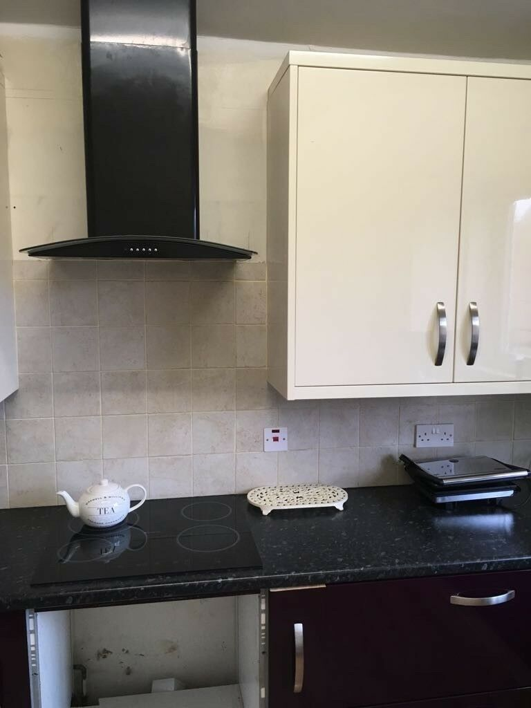 B&Q Kitchen Cabinets with Fridge and Extractor Fan | in Dunkirk ...