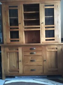 Display unit solid wood