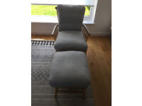 John Lewis Balmoral Armchairs and Footstool