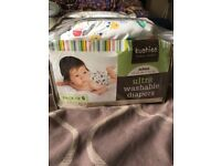 Reusable kushies diapers And Booster bundle