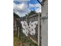 Butterfly with bee decoration garden spinner