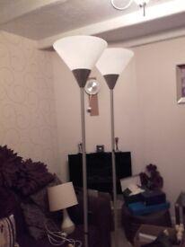 Uplightet lamps x 2
