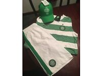 Celtic FC strip and baseball cap