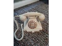 Retro looking ivory/cream telephone