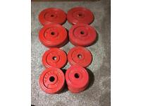 Weight Lifting Exercises Dumbbell Plates and bench
