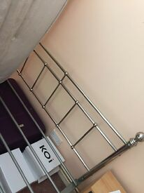 Silver steel double bed