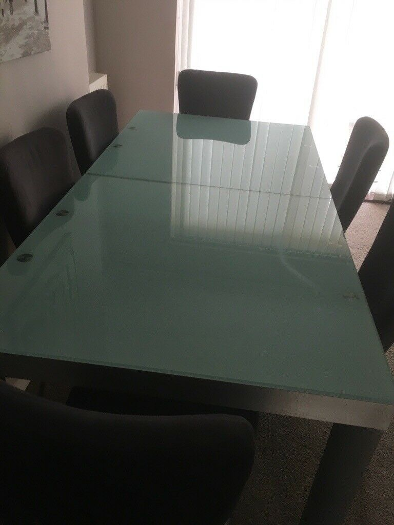 Glass Dining Table And 8 Chairs In Rainham London Gumtree