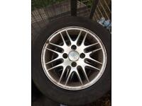 Ford Focus fiesta alloys with tyres