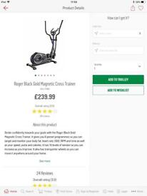 Roger black gold magnetic cross trainer