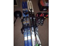 job lot of ski equipment