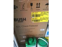 Bush Chest Freezer, White, Brand New In Box