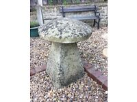 2 x Cotswold Staddle Stone/ Mushrooms