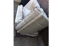 Corner Italian leather sofa and chair