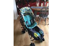 Cosatto Firebird stroller. Good stroller, lays flat, reversible cosytoes, umbrella fold, raincover.