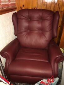 Wine/burgundy disability chair